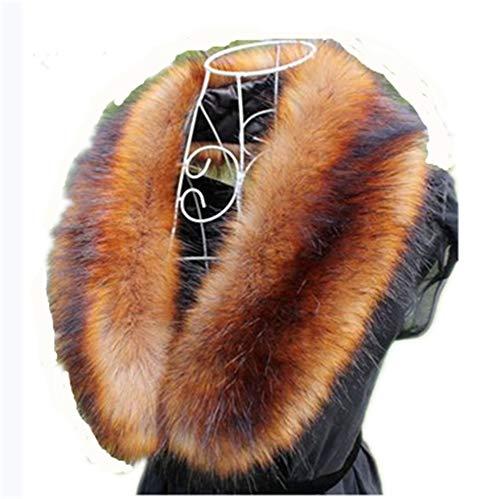 Faux Fur Collar Scarf Hood Collar Shawl Stole Neck Warmer for Winter Coat Jacket Parka (72cm/28.3