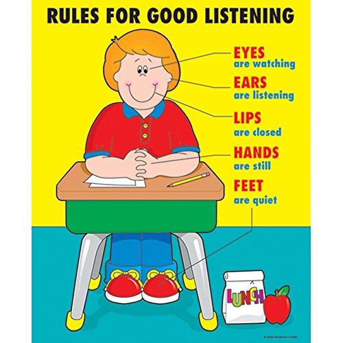 Carson Dellosa Rules for Good Listening Chart (Carson Dellosa Posters)