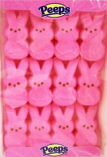 2 PACK - Peeps Marshmallow Easter Bunnies - Pink 12ct