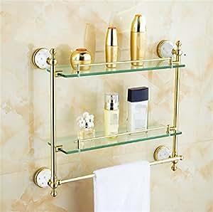 Ruanlei@toalla gancho doble para pared estante /Acero Inoxidable/Acabado Pulido/Portarrollo para Papel Higiénico/Conjunto de para baño ...