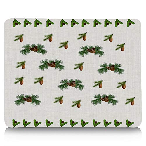 Gaming Mouse Pad, Christmas Pine Cone Fruit Non-Slip Rubber Base Mousepad Rectangle Mouse Mat for Laptop, Computers, Office & Home ()