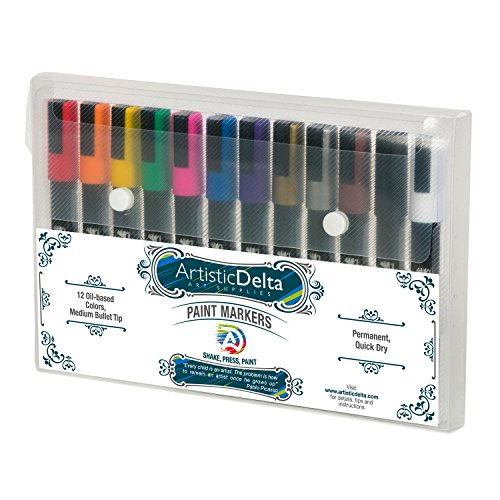 Paint Markers By Artistic Delta Set Of 12 Medium Point Import It All