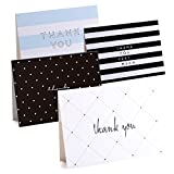 Thank You Cards - 50-Count Thank You Notes with 4 Designs, Blank Note Cards with Self Seal Envelopes - Perfect for Business, Wedding, Gift Cards, Graduation, Baby Shower