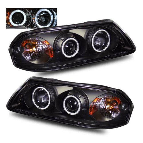 SPPC Projector Headlights Halo Black For Chevy Impala - (Pair) Impala Halo Projector Headlights