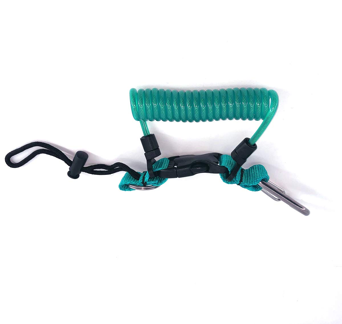 Kinno Scuba Spring Rope, Diving Lanyard Anti-Lost Spring Coiled Buckle for Diving Camera Cover Rope (Water Blue)