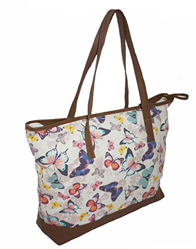 Beach Useable Maternity Coloured Gym Large Canvas Ladies Shopper Holdall Oversized Overnight Butterflies Re Multi Bag Travel Holiday CgAq1