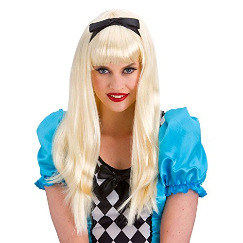[Wicked Ladies Storybook Alice Blonde Wig Fancy Dress Accessory] (Alice In Wonderland Costumes For Adults)