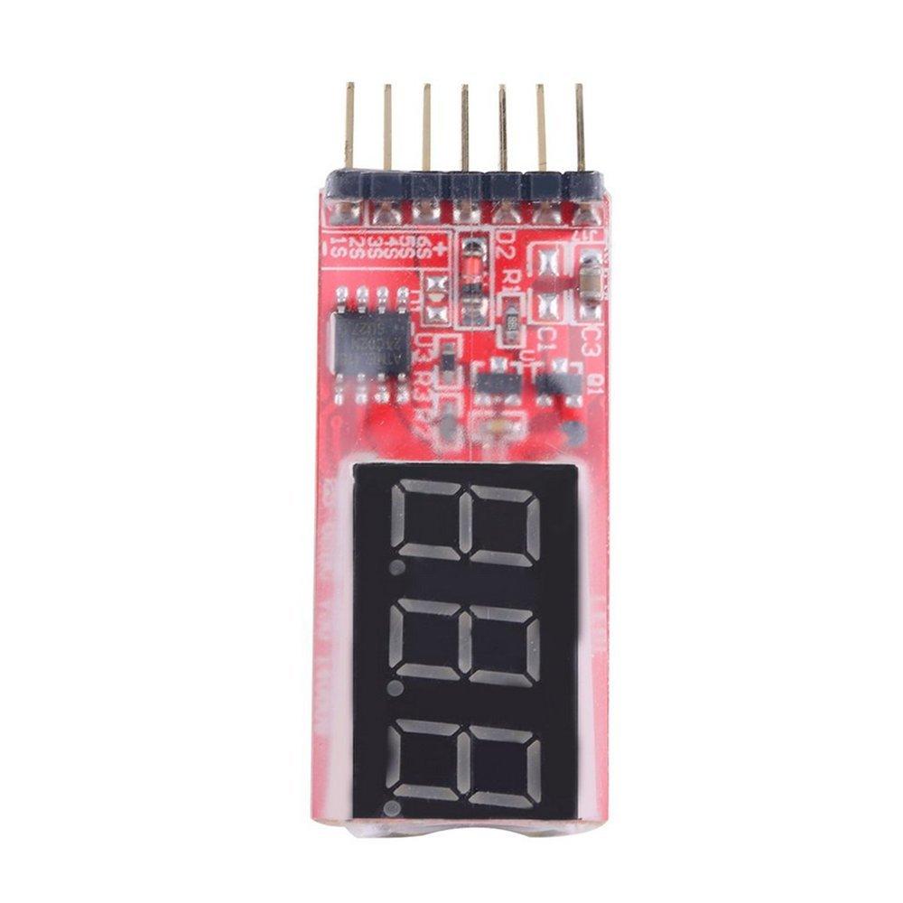 Dailyinshop Indicatore Tester Misuratore Tensione Batteria Lipo RC Voltmetro Pannello LED 2-6 celle