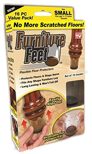 Ferryman Furniture Feet Flexible Floor Protectors - 16pc Value Pack (Small, Fits Legs 7/8