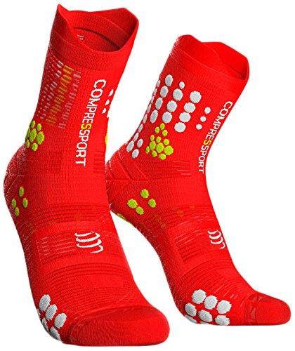 Compressport ProRacing V3 Trail Compression Socks - TSHV3 (Red/White - T3)