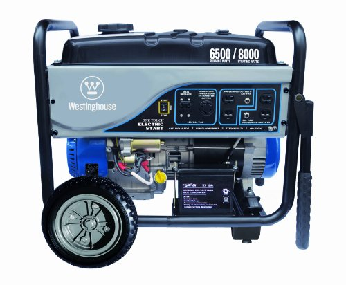 Westinghouse WH6500E, 6500 Running Watts/8000 Starting Watts, Gas Powered Portable Generator