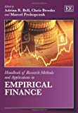 Handbook of Research Methods and Applications in Empirical Finance, Adrian R. Bell, Chris Brooks, Marcel Prokopczuk, 0857936085