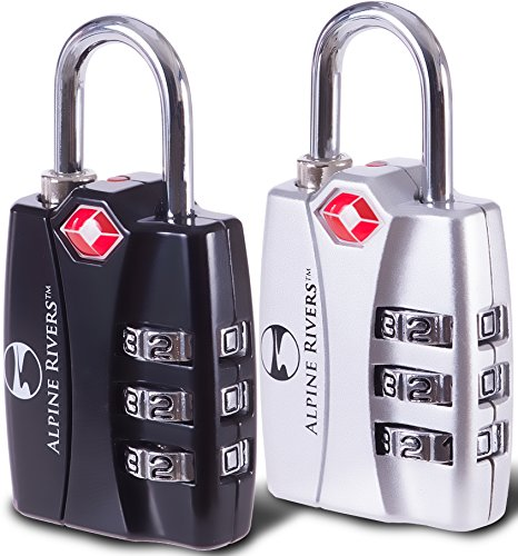 UltraTuff TSA Approved Lock - RED OPEN ALERT Indicator for Luggage &...