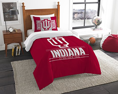 The Northwest Company Officially Licensed NCAA Indiana Hoosiers Modern Take Twin Comforter and Sham - Indiana Hoosiers Ncaa College Bedding
