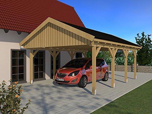 Carport (tejado a dos aguas) Nürburg V 500 cm x 600 cm, kit de construcción