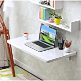 Tables MAZHONG Wall Hanging Folding Wall Mounted Side Kitchen Dining Computer Desk (Color : White, Size : 5030cm)