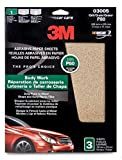 3M Sandpaper 80 grit - 9 x 11 inch 3 Sheet Pack