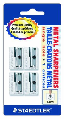 Staedtler Handheld Pencil Sharpeners, Graphite, 4 pieces (510 10 - Handheld Staedtler Metal
