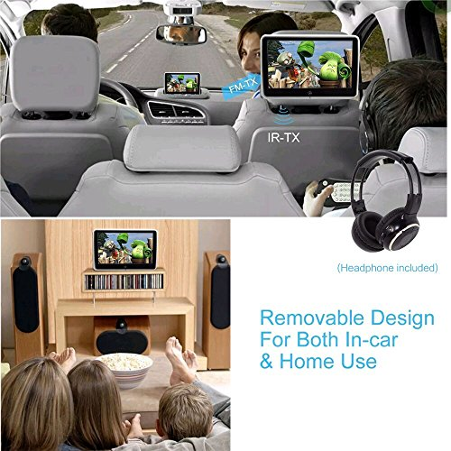 10.1 Inch HD Digital Multimedia  Monitor Super-thin Car Headrest Dvd Player With Ir headphone and HDMI Port and Remote Control USB And SD by Vk (Image #2)