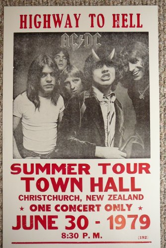 Highway to Hell AC/DC Summer Tour Poster