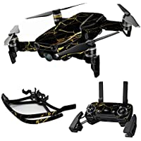 MightySkins Skin for DJI Mavic Air Drone - Black Gold Marble | Max Combo Protective, Durable, and Unique Vinyl Decal wrap cover | Easy To Apply, Remove, and Change Styles | Made in the USA