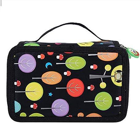 Simlug Estuche de 72 Ranuras para lápices de Colores, Bolsa de bolígrafos de Tela Colorida para Estudiantes(Rosado): Amazon.es: Hogar