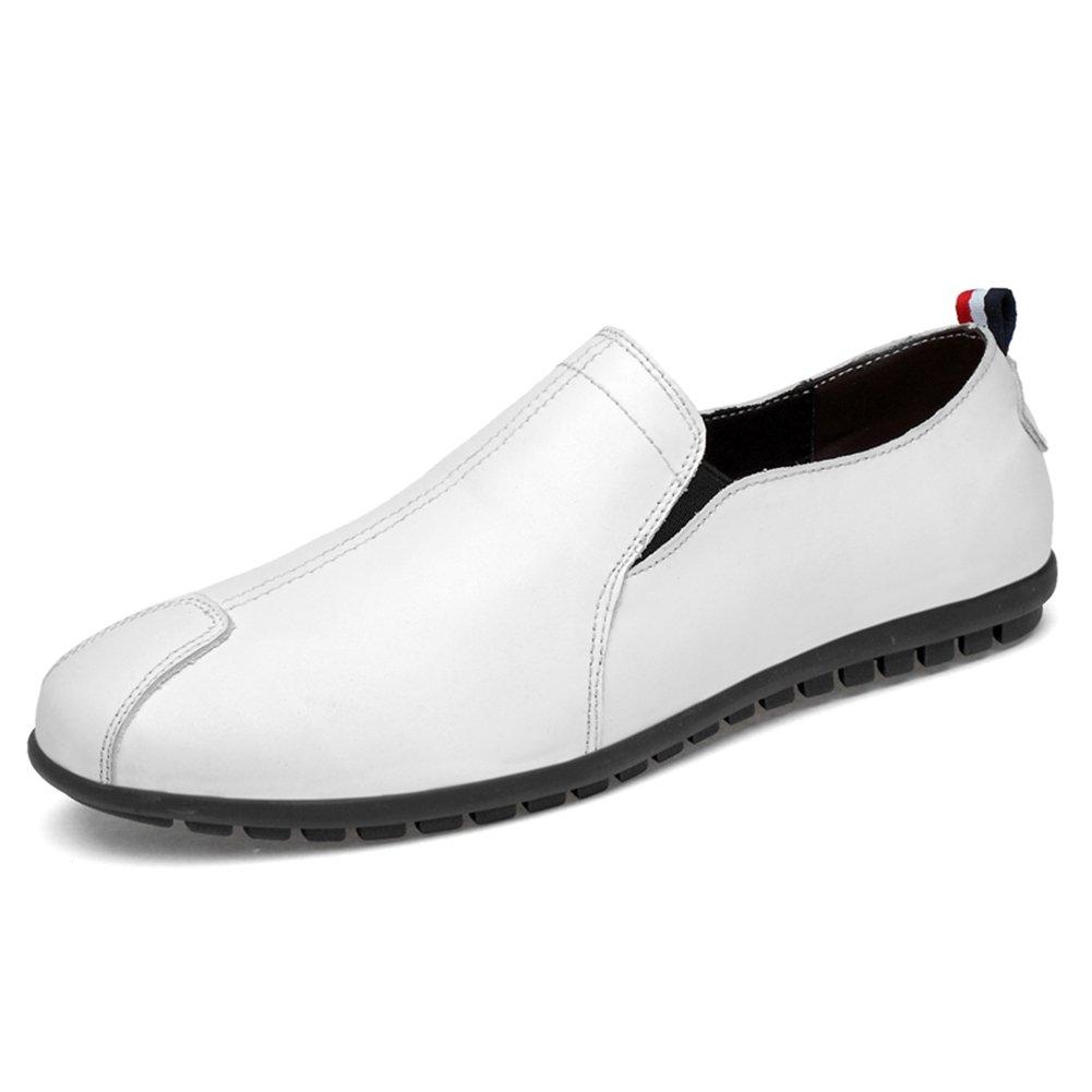 Männer Männer Männer Schuhe, Herrenschuhe Leder Frühling Sommer Herbst Mokassin Loafers & Slip-Ons Fahr Schuhe Casual große Größe Schwarz, Weiß,Schuhe B07HZ2B97X Badminton Liebessport, wirklich glücklich 105c9b