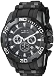 Invicta Men's Pro Diver Stainless Steel Quartz Watch with Silicone Strap, Black, 26 (Model: 22338)