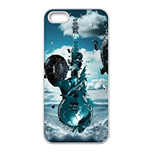Guitar iPhone 5 5s Cell Phone Case White 91INA91287410