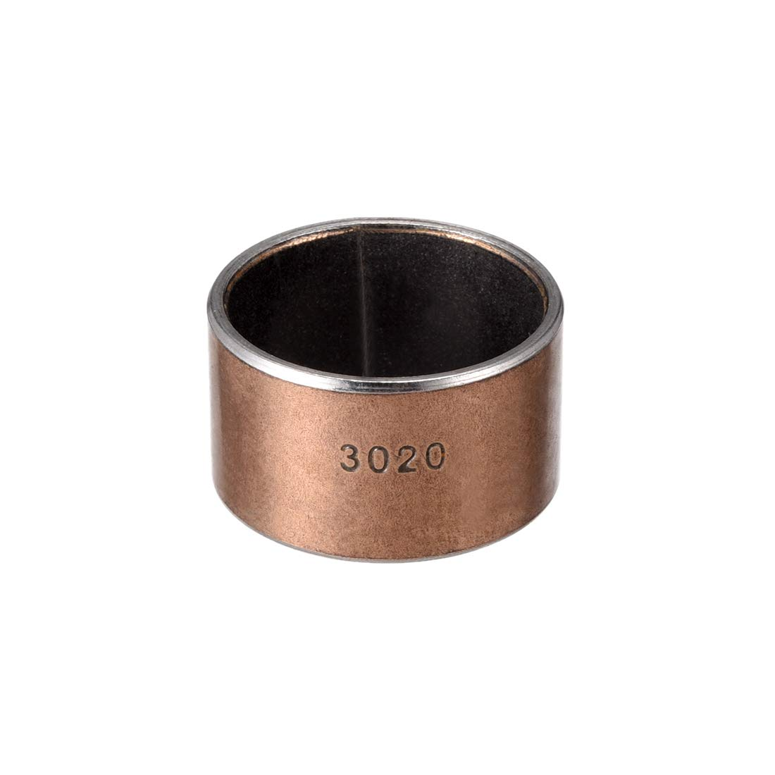 sourcing map Sleeve (Plain) Bearings, 30mm Bore x 34mm OD x 20mm Length Wrapped Oilless Bushings (Pack of 1)