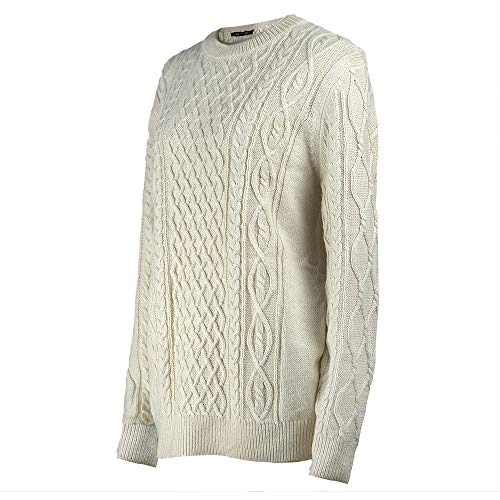 MMDLINA Womens Heavy Chunky Knit Cable Knit Long Sleeve Crew Neck Wool Sweater Pullovers ()