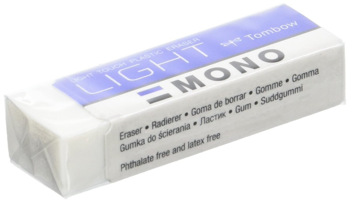 Tombow Mono Light Special–Eraser for Drywipe Delicate, Pack of 40, 13g