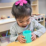 eZtotZ Tough To Tip Baby Cup | Made in USA Training and Learning Cup for toddler independent drinking | BPA Free