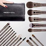 Makeup Brush Set, EIGSHOW 15 Piece Professional Makeup Brushes Kit with Corn Silk Fiber Vegan Brushes for Foundation Powder C