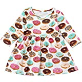 Birdfly Baby Fall Winter Girl Floral Printed T-Shirt...