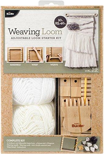 Bucilla 49029E 10 Inch Weaving Loom Starter Kit (Wooden Loom)