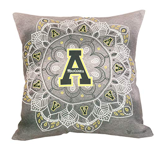 (FANOUFLAGE University Throw Pillow - NCAA Officially Licensed Home Décor (App State) )