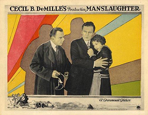 Border Bold Big (MANSLAUGHTER (1922) Lobby card superb and bold hand-colored art, border art FINE)