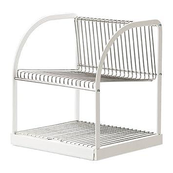 IKEA BESTAENDE - escurridor de vajilla, plata color, blanco - 32x29x36 cm: Amazon.es: Hogar