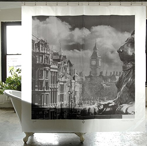 Izola PEVA Water Mold Resistant Shower Curtain - Trafalgar Square, London