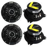 4) Kicker 41DSC44 D-Series 4' 240 Watt 4-Ohm 2-Way Car Audio Coaxial Speakers
