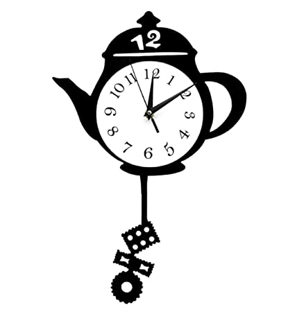 Amazon.com: Creative Kitchen Clocks Teapot Pendulum Wall ...