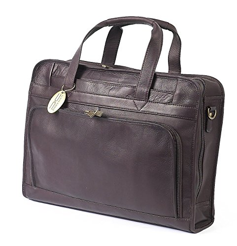 ional Leather Laptop Briefcase, Computer Bag in Cafe ()