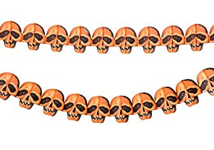 Hip Mall 2 x Halloween Props Decoration Skull Paper Chain Garland Decorations