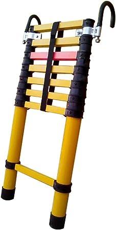 Escalera extensible Escalera telescópica Escalera telescópica de 2 m / 3 m / 4 m con ganchos, escalera de extensión de fibra de vidrio multiusos for uso doméstico diario de emergencia o industrial, 33: Amazon.es: Hogar