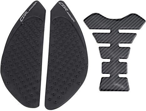 Acouto Motorcycle Gas Tank Side Fuel Grip Pad Sticker and Fishbone Decal Protector for HONDA CBR600RR 03-06 07-12 Honda CBR600RR 03-06
