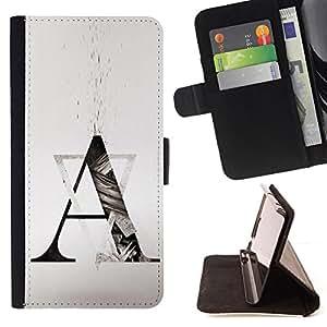 FORMATION A TRIANGLE LETTERS ART SHAPE/ Personalizada del estilo del dise???¡Ào de la PU Caso de encargo del cuero del tir????n del soporte d - Cao - For Samsung Galaxy S6