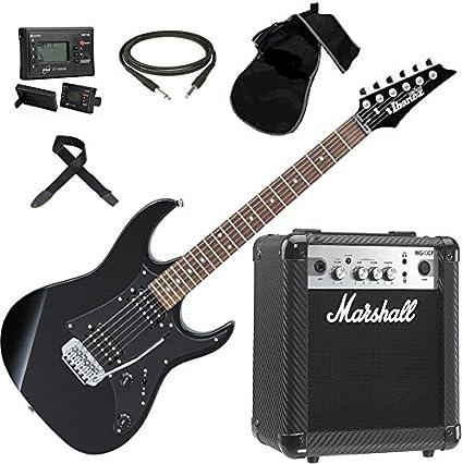 Ibanez grx20-bkn guitarra eléctrica + amplificador Marshall MG10 ...