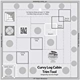 Creative Grids Non-Slip Curvy Log Cabin Trim Tool 8 in Finished Blocks by Creative Grids