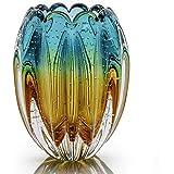 Vaso Em Cristal Murano Esmeralda E Âmbar São Marcos